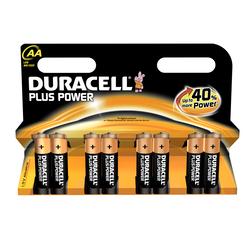 8 Piles LR06 AA Power Plus DURACELL