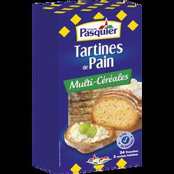Tartines de pain toasté aux multi-céréales BRIOCHE PASQUIER, boîtes de240g