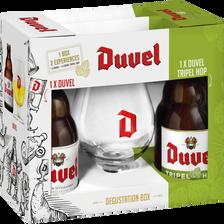 Duvel Coffret De Bière Blonde , 2x33cl + 1 Verre