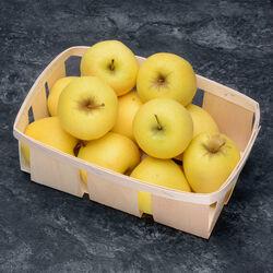 Pomme Golden Delicious, IGP Savoie, calibre 136/200, catégorie 1, France, panier 1,5kg