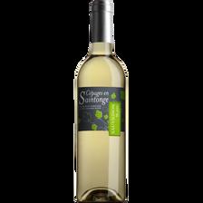 Vin blanc IGP Charentais Sauvignon Cépages Saintonge, 75CL
