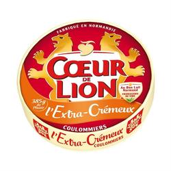 Coulommiers l'extra crémeux au lait pasteurisé  23% de matière grasseCOEUR DE LION, 385G