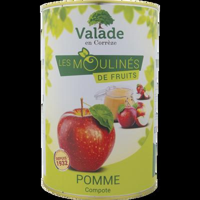 Compote de pommes VALADE, boite de 4.250kg