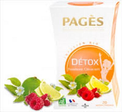 Infusion detox Framboise Citron vert Bio PAGES
