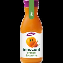 Pur jus réfrigéré orange carotte INNOCENT, bouteille de 90cl
