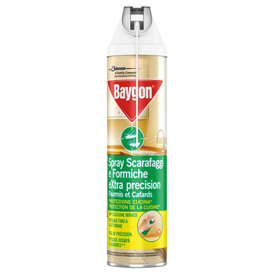 Insecticide fourmis et cafard applicateur précision BAYGON, aérosol 400ml
