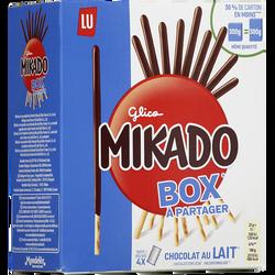 Biscuits nappés chocolat au lait Mikado LU, paquet de 300g Format Familial