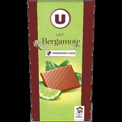 lait bergamote U, tablette 100g