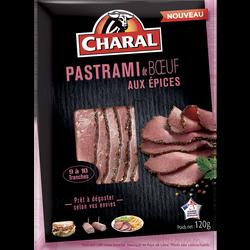 Pastrami boeuf tranche, CHARAL, France, barquette, 120g