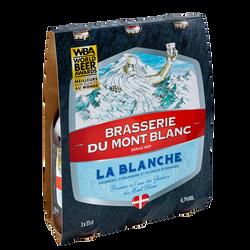 Bière blanche MONT BLANC 4,7°, 3 bouteilles de 33cl