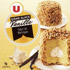 Dômes glace meringue vanille U, 4 pièces, 270g