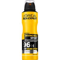Déodorant anti-transpirant 96h invincible sport MEN EXPERT, atomiseurde 200ml