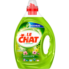 Lessive liquide expert jardin d'été LE CHAT, flacon 2L, 40 lavages