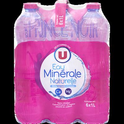 Eau minérale naturelle U, 6 bouteilles de 1l