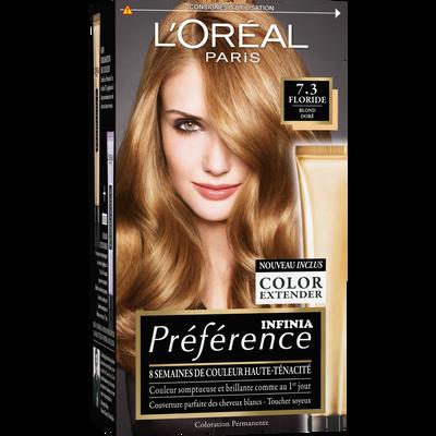 Coloration permanente Récital PREFERENCE, Floride 7.3 blond doré