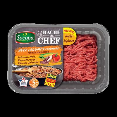 Haché de boeuf du chef légumes à la Mexicaine, SOCOPA, France, barquette, 500g