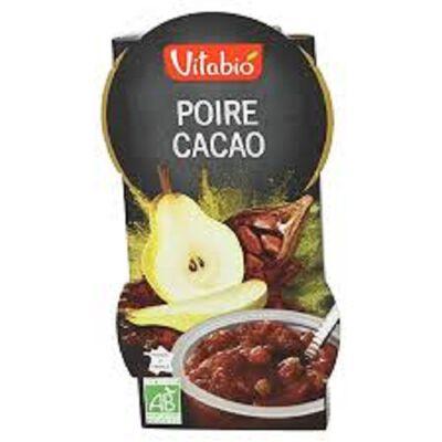Dessert Poire Cacao Bio Vitabio X2 coupelles de 120g
