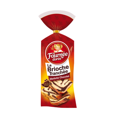 Brioche tranchée marbrée au chocolat LA FOURNEE DOREE, 400g