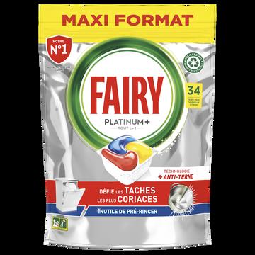 Fairy Nettoyant Lave-vaisselle Platinum+ Citron Taille M Fairy X34 Capsules