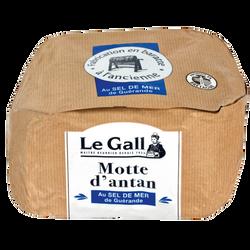 Beurre de baratte motte d'antan aux cristaux de sel de Guérande 80% mgLE GALL, 250g