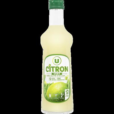 Spécialité à diluer au jus de citron vert à base de concentré avecpuple 70cl