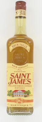 Rhum paille agricole AOC de Martinique SAINT-JAMES, 50°, bouteille de 70cl