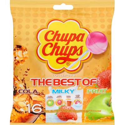 Sucettes assorties The Best Of CHUPA CHUPS, sachet de 192g