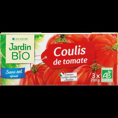 Coulis de tomate bio JARDIN BIO 3x200g 600g