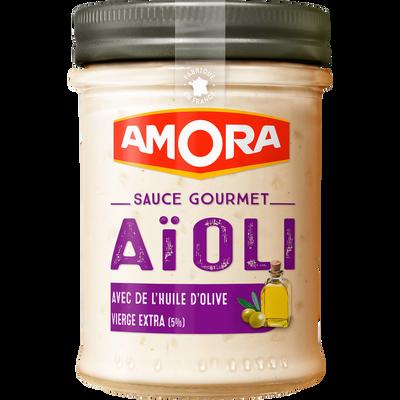 Sauce gourmet aïoli AMORA, bocal de 182g