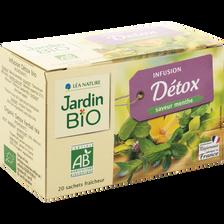 Infusion détox bio JARDIN BIO, boîte de 30g