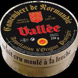 Camembert de Normandie AOP, moulé à la louche ,21,90%mg, VALLEE NOIR250g