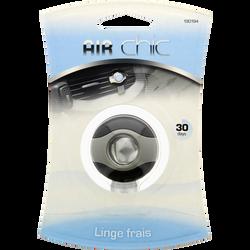 Désodorisant auto parfum Linge Frais,2,5ml,durée 30 jours,clipsable sur grille aération