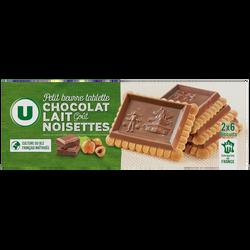 Petit Beurre tablette au chocolat au lait goût noisettes U, 150g