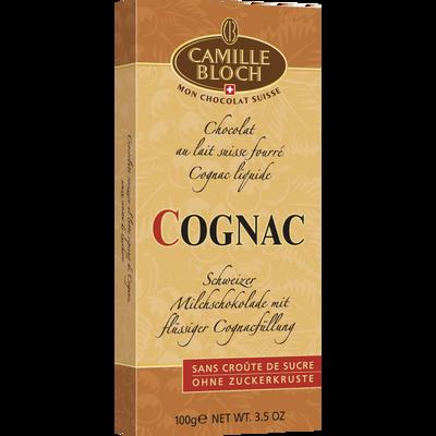 Chocolat au lait au Cognac CAMILLE BLOCH, tablette de 100g