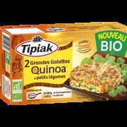 Tipiak Grandes Galettes De Quinoa Et Petits Légumes Bio Tipiak, 2x100g