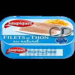 Filets de thon au naturel SAUPIQUET, 81g