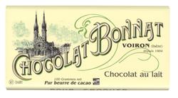 CHOCOLAT AU LAIT 55% CACAO 100G - BONNAT CHOCOLATIER