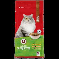 Croquettes pour chat sénior stérilisé au poulet, céréales et légumes U, paquet de 2kg