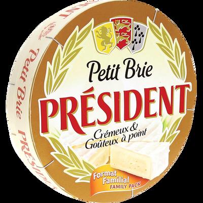 Petit Brie au lait pasteurisé PRESIDENT, 28%mg, 500g