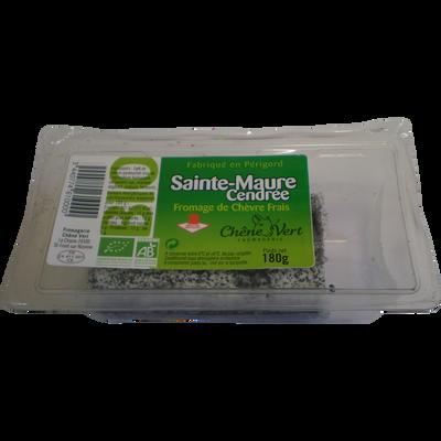 """Sainte Maure cendrée BIO au lait pasteurisé chèvre """"Chêne vert"""", 17%MG, 180g"""