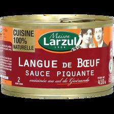 Maison Larzul Langue De Boeuf Sauce Piquante , Boîte De 410g