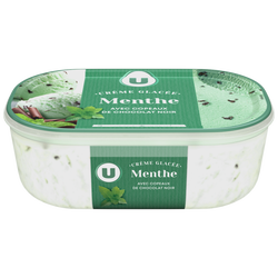 Bac crème glacée menthe/chocolat U 500G