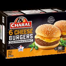 Cheeseburger CHARAL, 6x140g.Origine de la viande : France