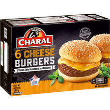 Charal Cheeseburger , 6x140g.origine De La Viande : France