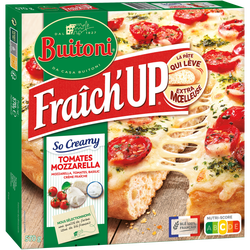 Pizza fraich'up so creamy mozzarella tomate BUITONI, 570g