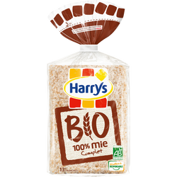 Pain 100% mie complet bio HARRYS, 325g