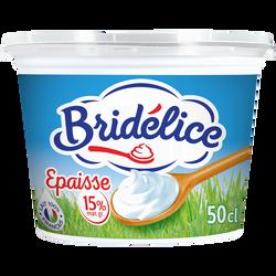 Crème fraîche légère épaisse BRIDELICE, 15%mg, 50cl