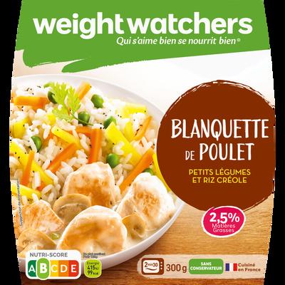 Blanquette de poulet, petits légumes et riz créole, WEIGHT WATCHER, 2x300g soit 600g