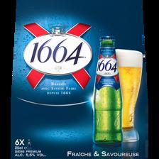 Bière blonde 1664 5,5° pack ble 6x25cl