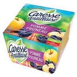 Compote pomme pruneaux ,CARESSE ANTILLAISE,400g